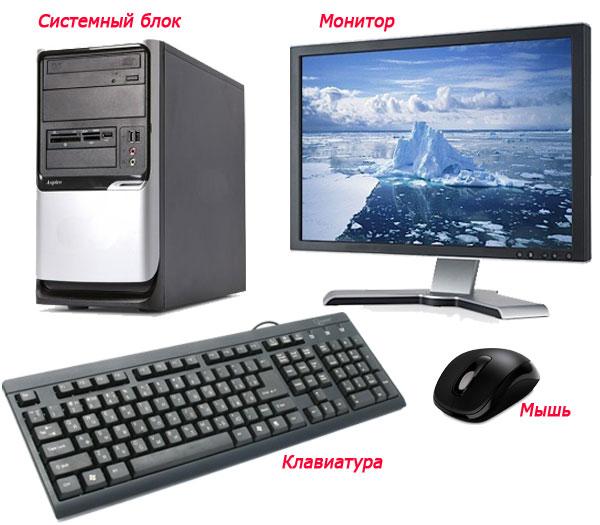 из чего состоит компьютер с фото