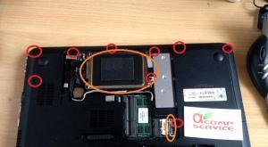 Пошаговая инструкция по разборке и чистке ноутбука HP G62-b51SR